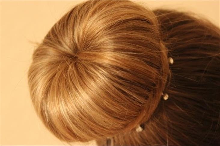 как сделать объемную шишку на голове