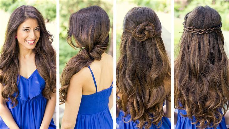Прически с накрученными волосами распущенными волосами