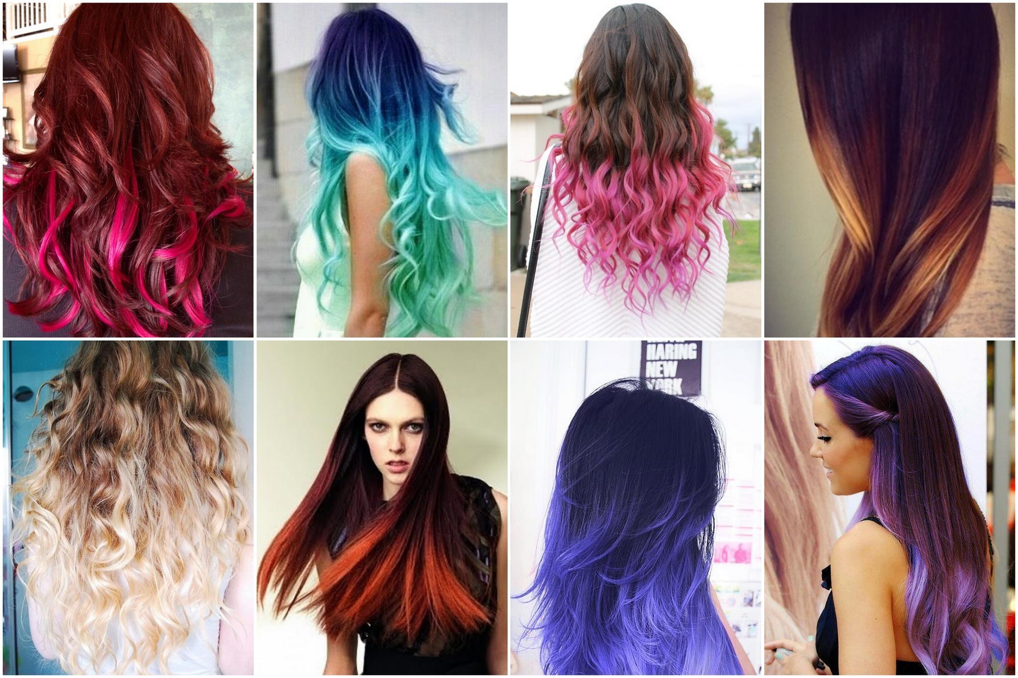 Креативный способ окрашивания двутональным Ombre Hair Color