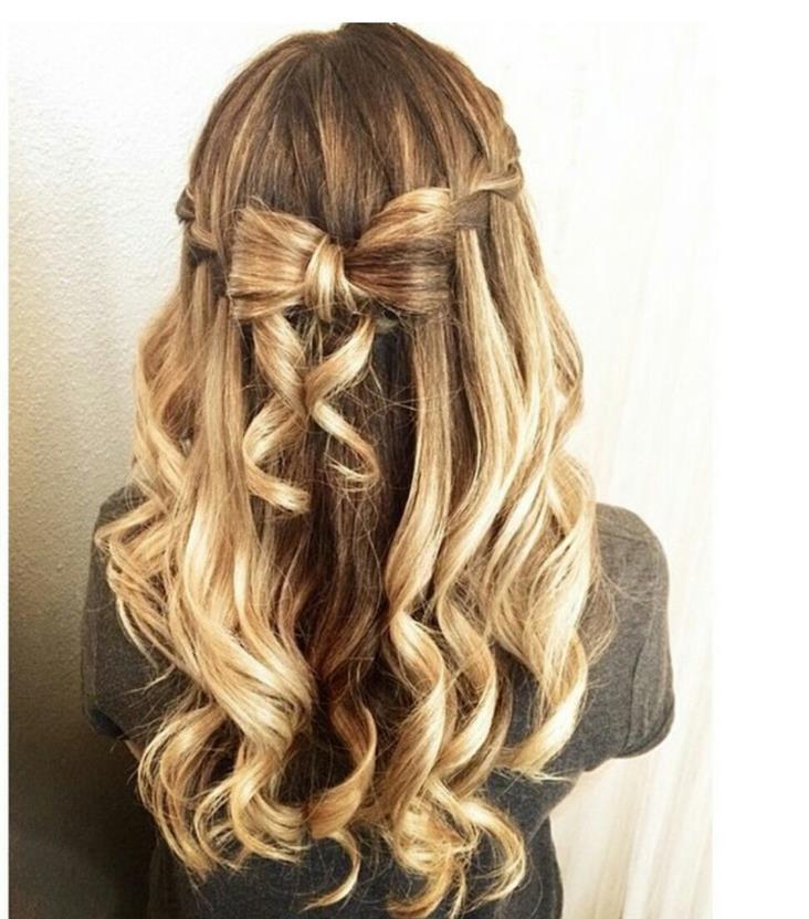 красивые прически с завитыми волосами фото