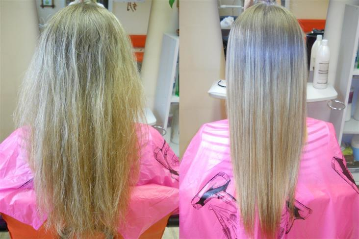 Как проходит процедура при кератиновом выпрямлении волос
